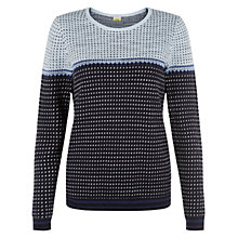 Buy NW3 by Hobbs Enya Cotton Blend Sweater, Pale Blue Multi Online at johnlewis.com