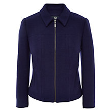 Buy Viyella Petite Boiled Wool Jacket, Ultraviolet Online at johnlewis.com