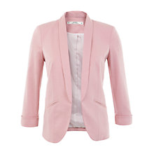 Buy Miss Selfridge Petite Blush Jersey Blazer, Nude Online at johnlewis.com