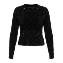 Buy Miss Selfridge Chenille Jumper, Black Online at johnlewis.com