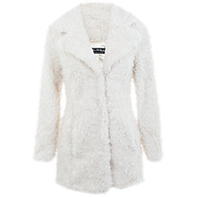 Buy Miss Selfridge Teddy Bear Fur Coat, Cream Online at johnlewis.com