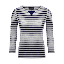Buy Viyella Striped Jersey Top, Ultraviolet Online at johnlewis.com