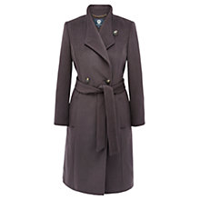 Buy Viyella Asymmetric Wool Blend Coat, Mink Online at johnlewis.com