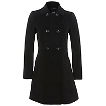 Buy Miss Selfridge Double Breasted Coat, Black Online at johnlewis.com