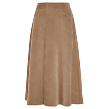 Buy Viyella Pleated Cord Skirt, Camel Online at johnlewis.com