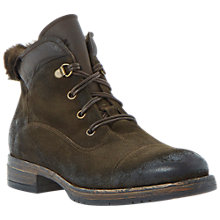 Buy Dune Black Perkins Leather Lace Up Ankle Boots, Brown Online at johnlewis.com