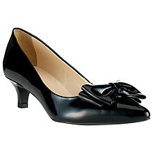 Buy John Lewis Pinot Bow Patent Court Shoes, Black Online at johnlewis.com