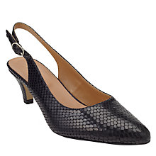 Buy John Lewis Grace Leather Court Shoes, Black Online at johnlewis.com