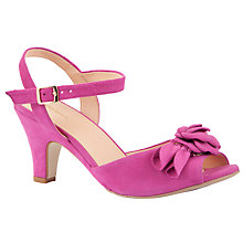 Buy John Lewis Freedom Nubuck Sandals, Pink Online at johnlewis.com