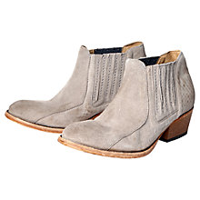 Buy H by Hudson Emmett Suede Ankle Boots, Beige Online at johnlewis.com