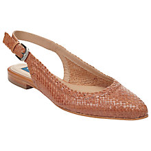 Buy COLLECTION by John Lewis Bordeaux Leather Slingback Flats Online at johnlewis.com