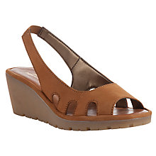 Buy John Lewis Designed for Comfort Coot Nubuck Wedge Sandals, Tobacco Online at johnlewis.com