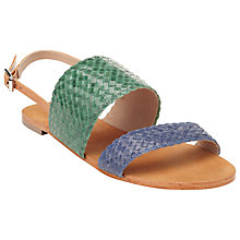 Buy Collection WEEKEND by John Lewis Avignon Woven Leather Sandals Online at johnlewis.com