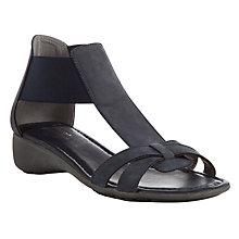 Buy John Lewis Designed for Comfort Macaw Nubuck Wedge Sandals, Navy Online at johnlewis.com