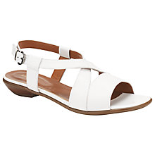Buy John Lewis Morden Leather Sandals, White Online at johnlewis.com