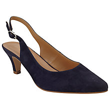 Buy John Lewis Grace Suede Court Shoes, Navy Online at johnlewis.com
