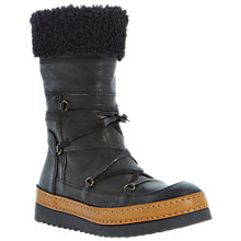 Buy Dune Black Rango Leather Calf Boots, Black Online at johnlewis.com
