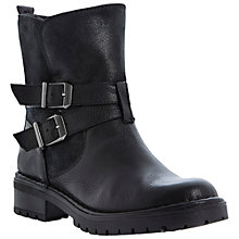 Buy Bertie Pobby Leather Cleated Sole Ankle Boots, Black Online at johnlewis.com
