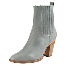 Buy Somerset by Alice Temperley Yarrow Leather Ankle Boots, Grey Online at johnlewis.com