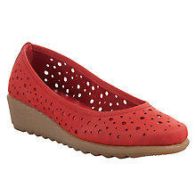 Buy John Lewis Designed for Comfort Jenday Perforated Nubuck Pumps Online at johnlewis.com
