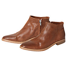 Buy H by Hudson Shift Leather Ankle Boots, Tan Online at johnlewis.com