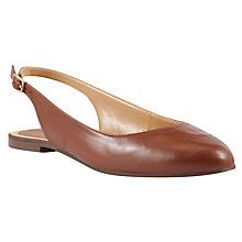 Buy John Lewis Brighton Leather Pumps, Brown Online at johnlewis.com