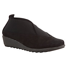 Buy John Lewis Designed for Comfort Sparrow Nubuck Court Shoes, Black Online at johnlewis.com
