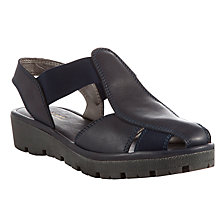 Buy John Lewis Designed for Comfort Goffin Leather Sandals, Navy Online at johnlewis.com