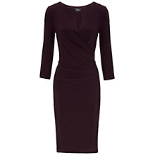 Buy Gina Bacconi Jersey Dress, Dark Cranberry Online at johnlewis.com