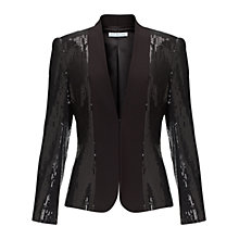 Buy Gina Bacconi Sequin Double Knit Stretch Jacket, Black Online at johnlewis.com
