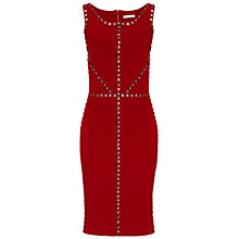 Buy Gina Bacconi Stretch Ottoman Dress, Red Online at johnlewis.com