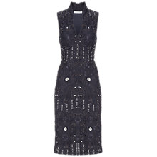 Buy Gina Bacconi Beaded Lace Dress, Slate Online at johnlewis.com