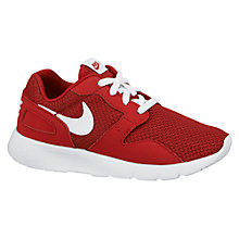 Buy Nike Children's Kaishi Sports Trainers, Red/White Online at johnlewis.com
