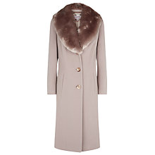Buy Jacques Vert 3/4 Fur Collar Coat, Palamino Online at johnlewis.com