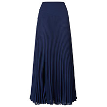 Buy Jacques Vert Pleated Maxi Skirt, Midnight Online at johnlewis.com