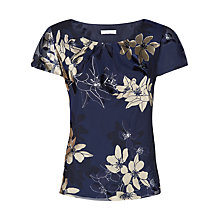 Buy Jacques Vert Floral Bouquet Top, Blue Online at johnlewis.com