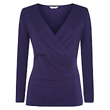Buy Kaliko Tuck Wrap Jersey Top, Dark Purple Online at johnlewis.com