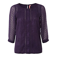 Buy White Stuff Richa Top, Purple Online at johnlewis.com