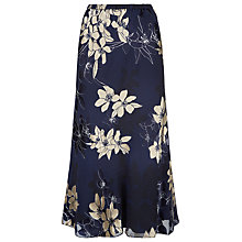 Buy Jacques Vert Floral Bouquet Skirt, Blue Online at johnlewis.com