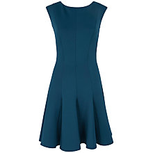 Buy Almari Godet Scuba Dress, Teal Online at johnlewis.com
