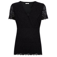 Buy Kaliko Tiered Lace Top, Black Online at johnlewis.com