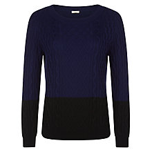 Buy Planet Cable Jumper, Blue/Black Online at johnlewis.com