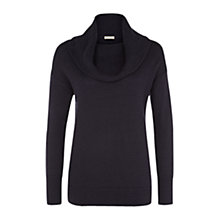 Buy Planet Chunky Rolled Neck Jumper, Navy Online at johnlewis.com