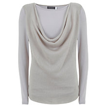 Buy Mint Velvet Cowl Front Blouse, Neutral Online at johnlewis.com