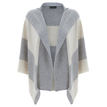 Buy Hygge by Mint Velvet Striped Poncho, Silver Grey / Ecru Online at johnlewis.com