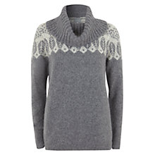 Buy Hygge by Mint Velvet Wool Blend Ski Jumper, Grey Online at johnlewis.com