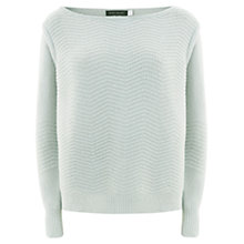 Buy Mint Velvet Zig Zag Stitch Jumper, Mint Green Online at johnlewis.com