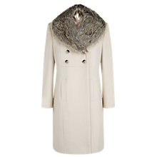 Buy Precis Petite Double Breasted Coat, Ivory Online at johnlewis.com