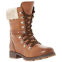 Buy Bertie Ringo Leather Lace Up Calf Boots, Brown Online at johnlewis.com
