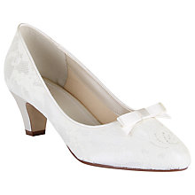 Buy Rainbow Club Patsy Satin Kitten Heels, Ivory Online at johnlewis.com